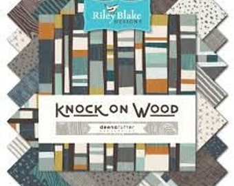 """Riley Blake - Knock On Wood, 10"""" Stacker, Layer Cake, Pre-Cut Fabric, Contemporary Fabric, Riley Blake, Patchwork Fabric, Fabric"""