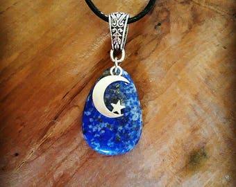 Celtic Necklace: genuine lapis lazuli