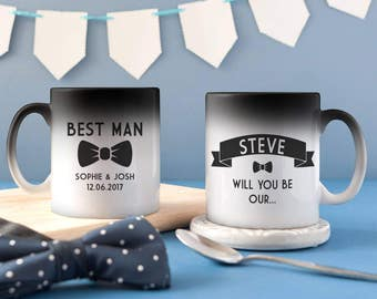 Will You Be My Best Man - Will You Be My Usher - Best Man Mug - Usher Mug - Best Man Gift - Colour Changing Best Man Mug