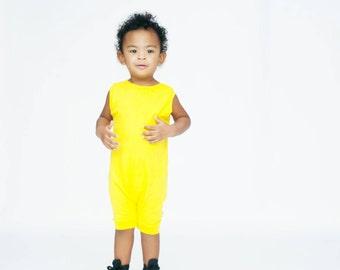 baby romper, toddler romper, toddler boy romper, baby girl romper, baby boy romper, solid romper, striped romper, yellow romper, YELLOW
