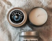 """Peppermint vanilla Scent soy candle """"Skadi's Embrace"""" 4oz Soy Viking Candle Travel Tin Shieldmaiden Candleworks Christmas candle"""