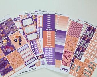 PEACH SUNSET   Planner Sticker Kit perfect for vertical Erin Condren Life Planner   L110