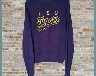 Vintage LSU Tigers Crewneck Sweater Small