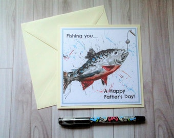 Fathers day card, Fishing card, fishing, card for dad, fathers day, fish card, fishing card for dad