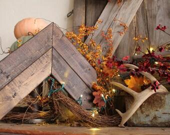 Large Wooden Arrow (Double) // Rustic Home Decor // Farmhouse // Modern Decor // Hipster // Barn wood Decor