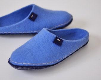 gift for husband - felted slippers - women hause slipper - natural felt wool slippers