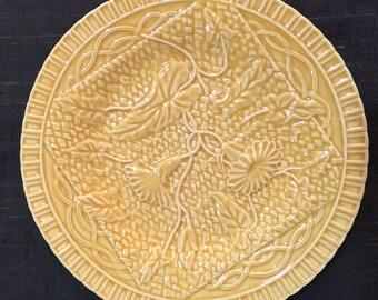 Bordallo Pinheiro Yellow Plate
