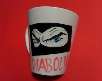 Hand painted Dabolik handpainted mug Cup-Diabolik