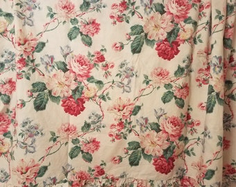 """Retired """"Lorraine"""" pink cabbage rose/floral Ralph Lauren sheet set-shabby/cottage chic french country rare!"""