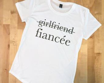 FIANCE SHIRT, FIANCEE Shirt, Married Af, Married Af Shirt, Just Married Shirts, Engaged Af, Engaged Af Shirt, Girlfriend Fiance, Engaged