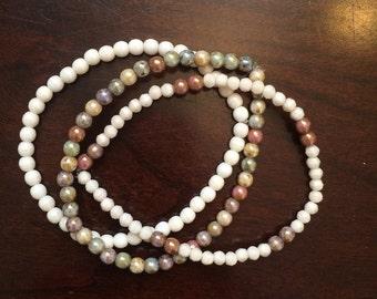 Earthtone skinny bracelet set
