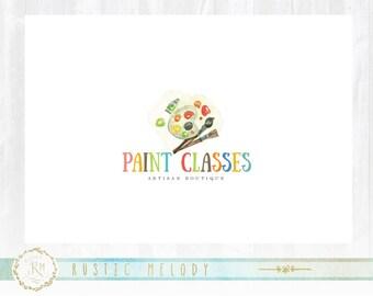 Art Logo Design, Kids Art Classes Logo , Paint Brush Logo, Artists Logo, Premade logo design, Kids Logo, School Logo