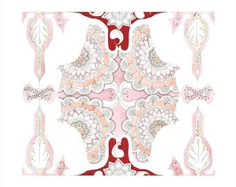 Siamese Lace illustration- Limited Edition Digital Print