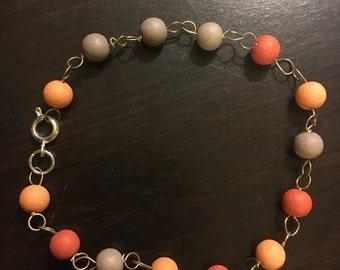 Coral chain bracelet