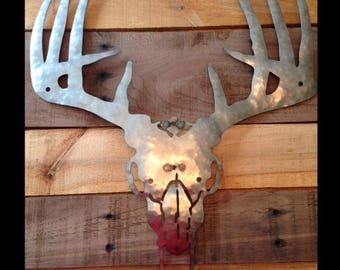 Metal deer skull rustic outdoors decoration gift