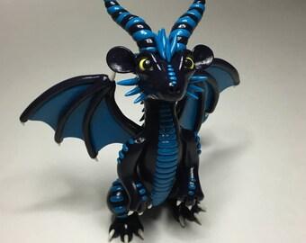 Stormrider the Dragon - OOAK Polymer Clay Figurine