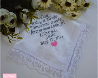 Wedding Poem Hanky. Personalize your own handkerchief. Personalized Wedding Favor. Personalized Wedding Hanky. Customized Hankerchief.