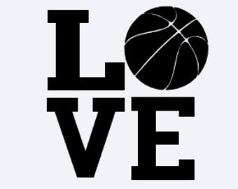 Basketball Decal - LOVE Decal - Basketball Sticker - LOVE Sticker - Sport Decal - Sports Sticker