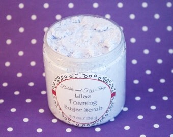 Lilac Foaming Sugar Scrub / Whipped Sugar Scrub / Soap / Stocking Stuffer / Gift / Present / Lilac Flower
