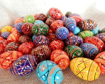 "Set of 5 Small Ukrainian Painted Wooden Easter Eggs for a decor Ukraine Pysanka Ukrainian Pysanky Писанка Україна1,25"""