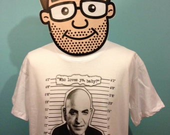 Kojak / Telly Savalas T-Shirt (tv detective) - White Shirt