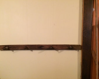 Coat Rack from Reclaimed railroad telegraph crossarm