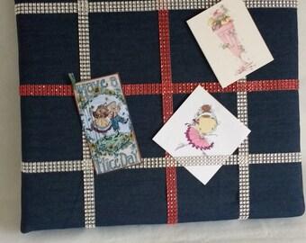 Denim Fabric Memo Board