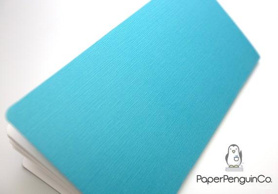 Midori Insert Japanese Linen Textured Teal Light Blue Travelers Notebook Regular Wide B6 Personal A6 Pocket Field Notes Passport Mini Micro