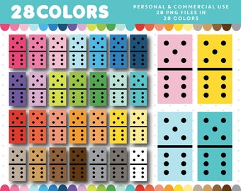 Domino clipart, Dominoes clipart, Card game clipart, Game night clipart, Game party clipart, Board game clipart, CL-1269