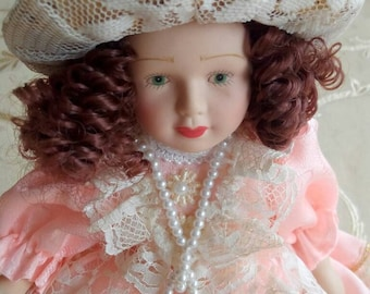 Porcelain doll vintage anni ' 70