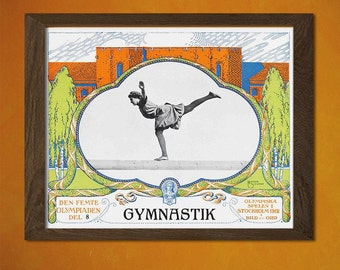 FINE ART REPRODUCTION Olympic Games Poster 1912 Vintage Sport Poster Retro   Olympic Poster Stockholm Olympic Print