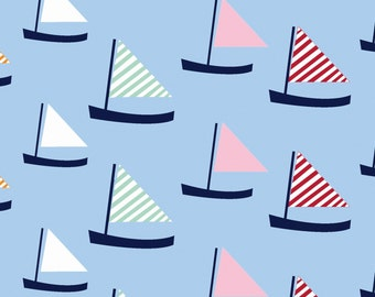 Oh Say Can You Sea in Sail Away by Jack and Lulu for Dear Stella- 1/2 Yard