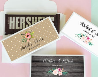 Personalized Floral Garden Candy Wrapper Covers- 24 pieces