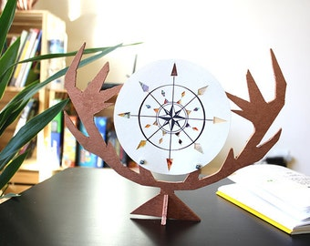 Poster Antlers | Table decoration | Cardinal Points illustration