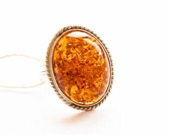 Vintage Baltic Amber Ring 7g.