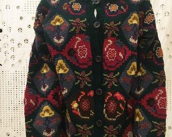 vintage cardigan handmade