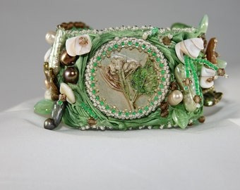 Beaded Embroidery Cuff