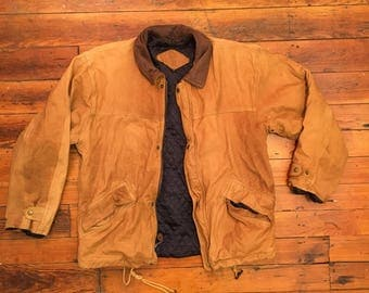 Vintage Brown Leather Jacket / Medium