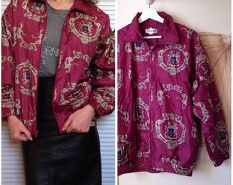 Jacket jacket jacket Burgundy patterned vintage 90 s (40/42 - L)