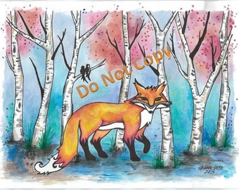 Fox - Whisper of the Birches