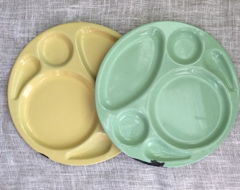 sale--set of 2 John's Service Plate enamelware trays Hollywood, CA 1941