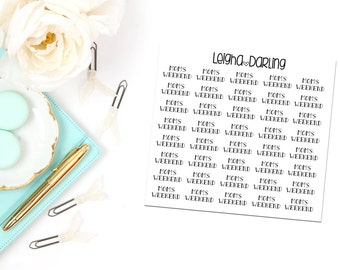 Mom's Weekend/ Co-parent Planner Stickers