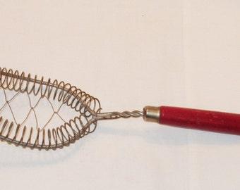 Wood Handled Wire Strainer Vintage Strainer