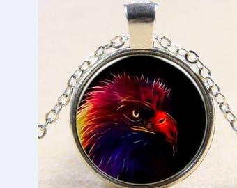 Cabochon necklace Eagle