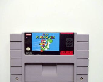Super Mario World® for Super Nintendo® SNES Game Cartridge Retro Game