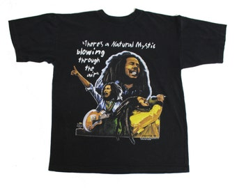 Vintage 1990's Bob Marley Wailers T Shirt, Made in Jamaica! Size Large