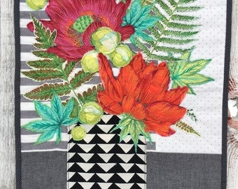 Floral Bouquet Art Quilt/Wall Hanging