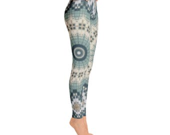 Ladies Yoga Pants, Yoga Tights, Printed Leggings, Mandala Yoga Leggings, Womens Stretch Pants