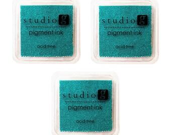 3-Pack Hampton Art Studio G Pigment Ink Pad