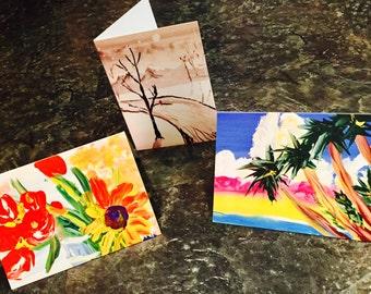 3 Blank Cards